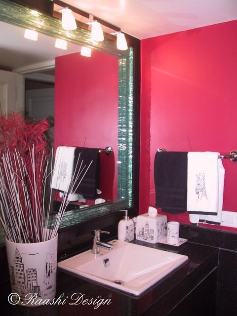 Bathroom - Mirror with glass butch work contemporary-bathroom