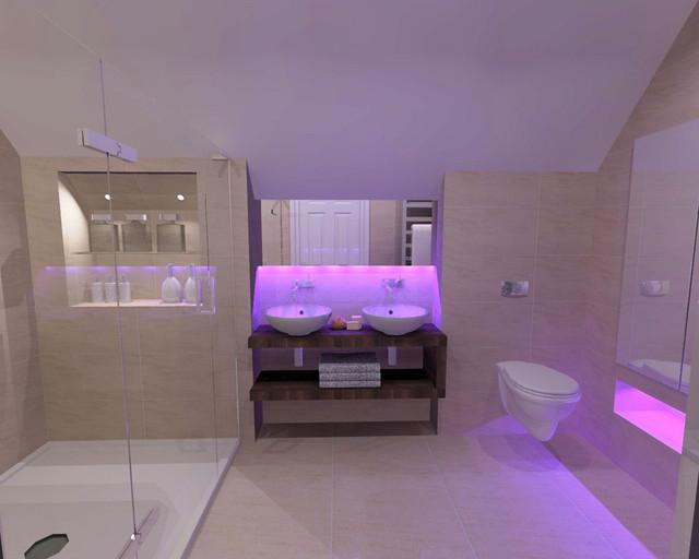 Bathroom Mood Lighting By Bagnodesign Glasgow Contemporary Bathroom Glasgow By