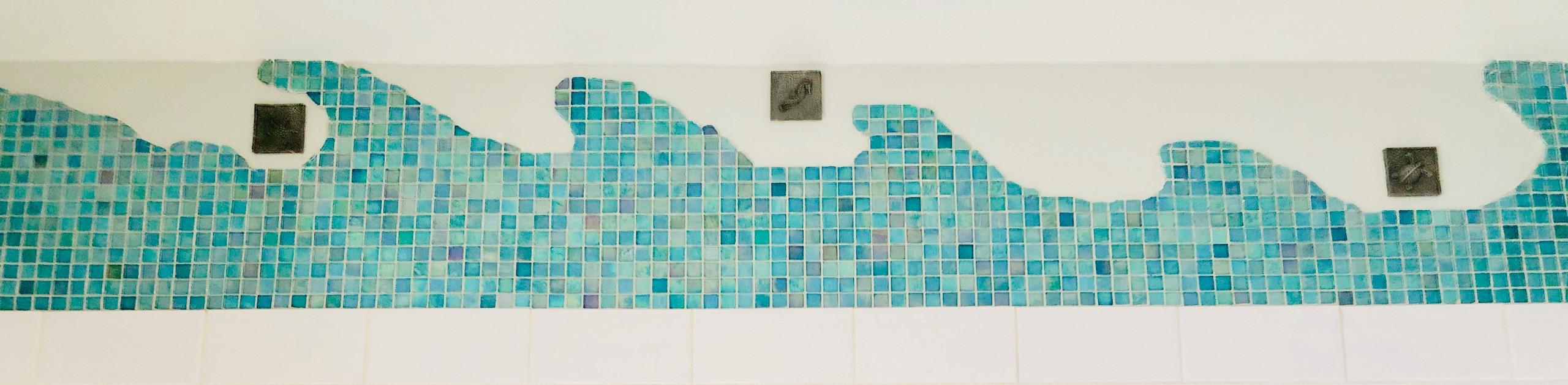 Bathroom mural detail