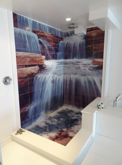 Bathroom murals for Bathroom tile mural