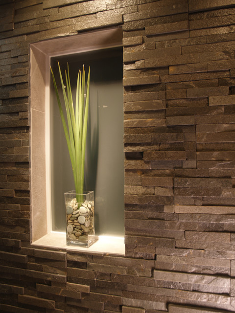 Bathroom Natural Stone Built In Contemporary Bathroom