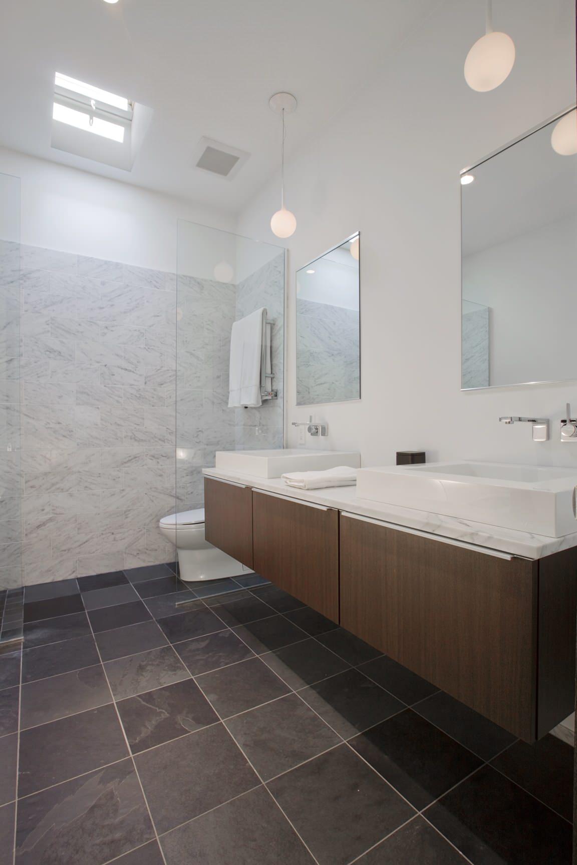 Bathroom Dark Floor Houzz