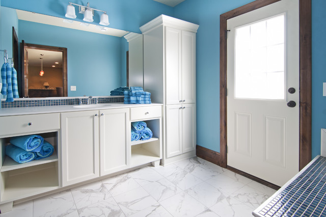 Bathroom pool changing room with door to pool traditional bathroom minneapolis by - Change your old bathroom to traditional bathrooms ...