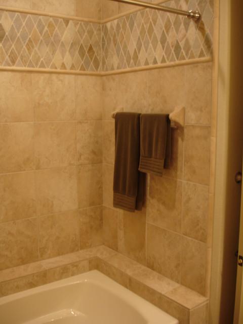 Bathroom Porcelain Travetine Tile Jerusalem Stone Accent