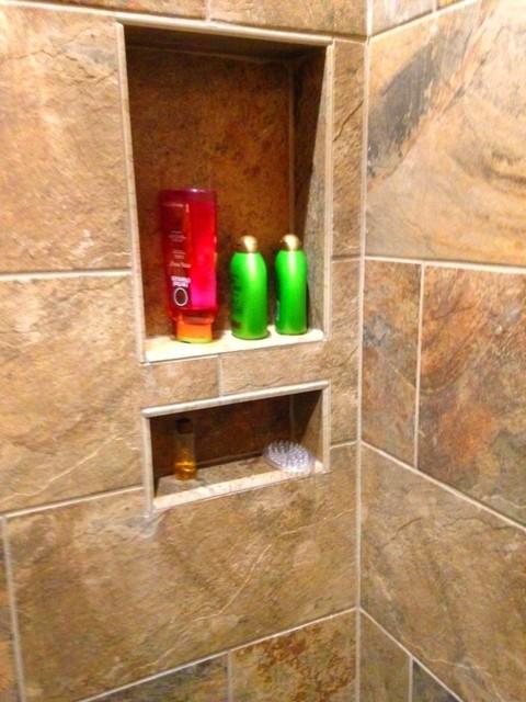 Bathroom-Rectangular Porcelain rustic-bathroom
