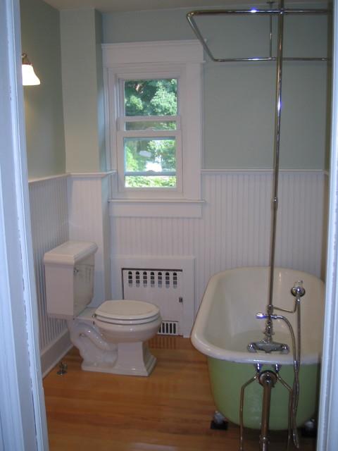 bathroom redone in foursquare 1915 home craftsman