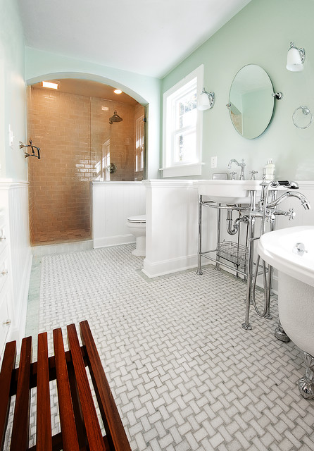 Bathroom remodel expansion traditional bathroom st for Bathroom decor 1920 s