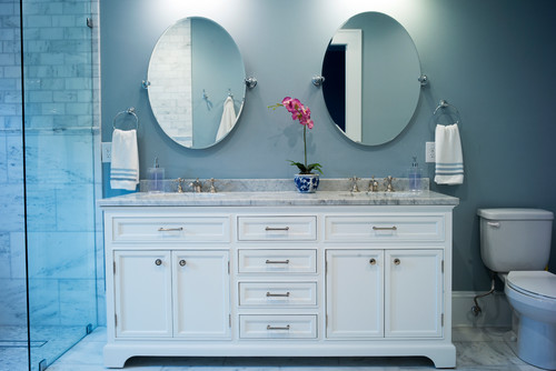 his and hers sinks in bathroom remodel