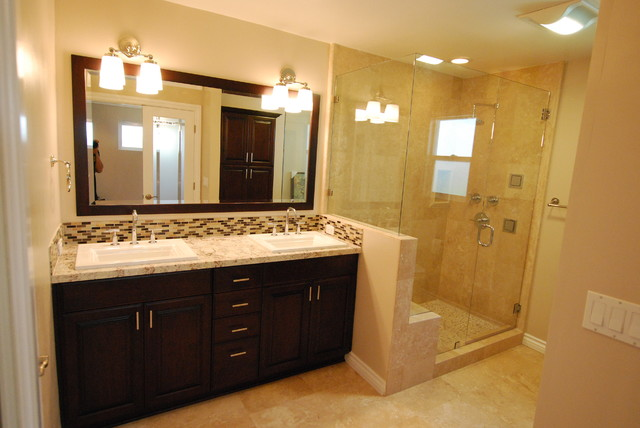 Bathroom Remodel Double Shower : Bathroom remodel transitional los angeles