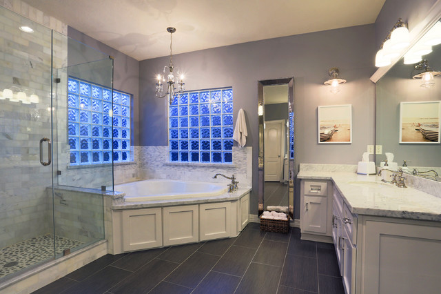 Bathroom remodel project in houston transitional for Bathroom designs houston