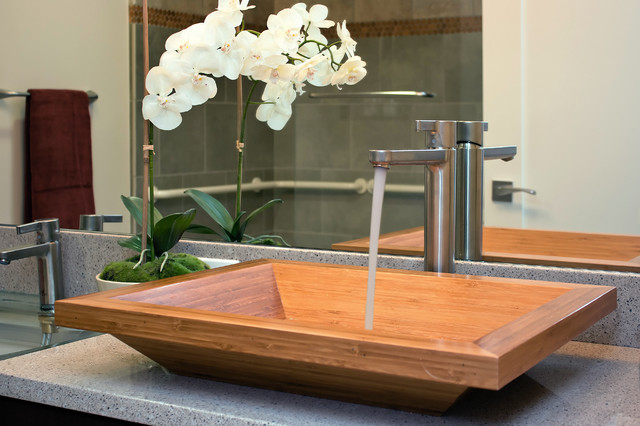 Inspiration For A Contemporary Bathroom Remodel In San Francisco With A  Vessel Sink Part 91