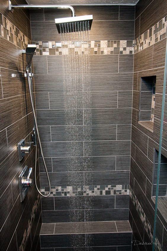 Bathroom Remodel - Shower Closeup - Contemporary ...