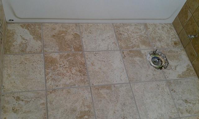 Bathroom Remodel - Tub surround, floor, vanity cabinet, countertop contemporary-bathroom