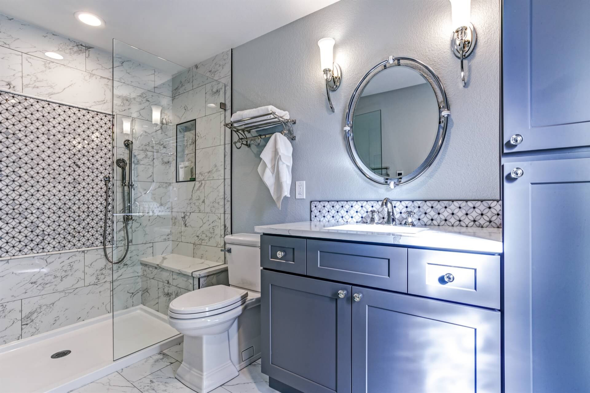 75 Beautiful Blue Bathroom Pictures Ideas January 2021 Houzz