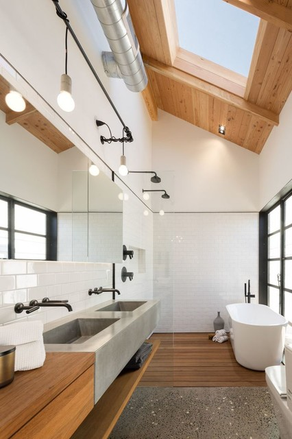 bathroom remodeling cost インダストリアル バスルーム ハワイ
