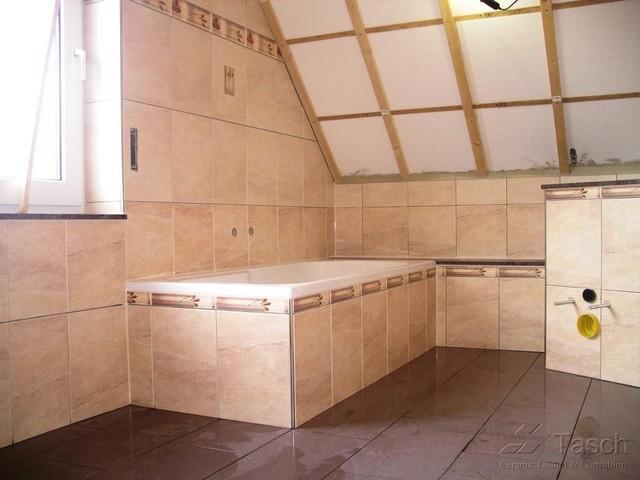 Bathroom Remodeling in 1998 - Tiling over Existing Tiles - Location Germany bathroom