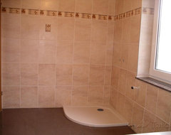 Bathroom Remodeling in 1998 - Tiling over Existing Tiles - Location Germany bathroom
