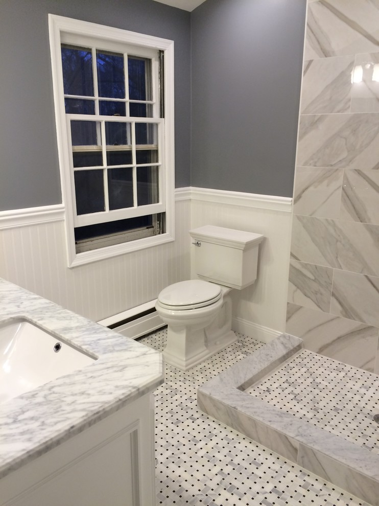 Inspiration for a contemporary bathroom remodel in Other