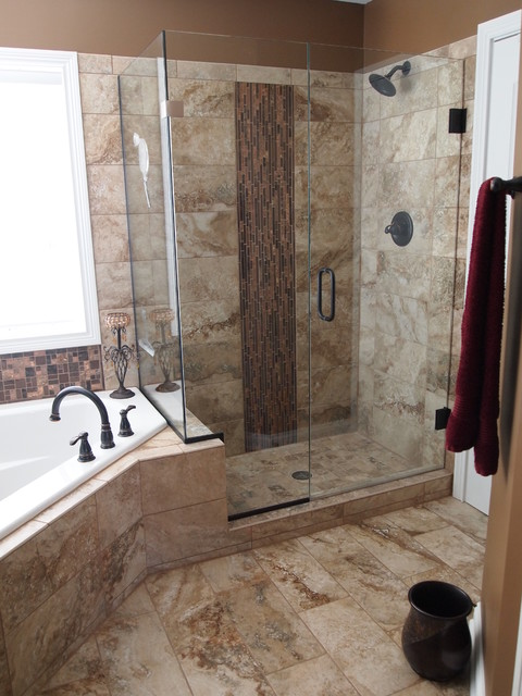Bathroom remodels before and after traditional for Bathroom remodel indianapolis