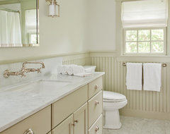 Beadboard bathroom height