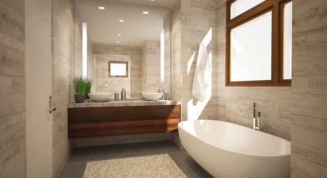 Bathroom renderings moderno stanza da bagno san for Piccola fattoria moderna