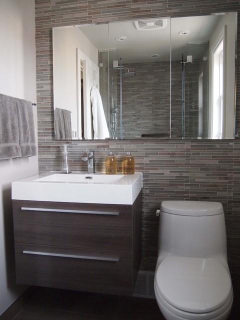 Bathroom Reno in the Kingsway - Contemporary - Bathroom - Toronto - by ...