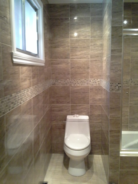 Fliesen Bad Braun: Bathroom Renovation, Brown Tiles & Insertion Mosaic