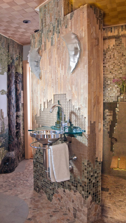 Eclectic Bathroom by Cambridge Architects & Designers Leslie Saul & Associates