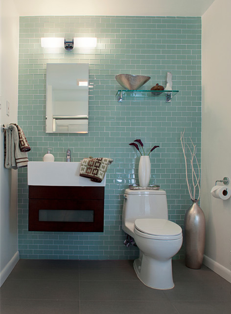 Modern Small Guest Bathroom Ideas : Guest bathroom renovation modern dc metro