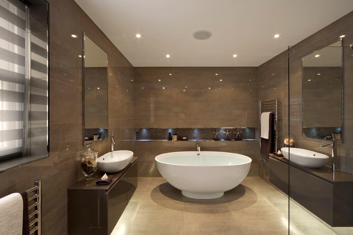 Earth Tone Bathroom Accents  Houzz