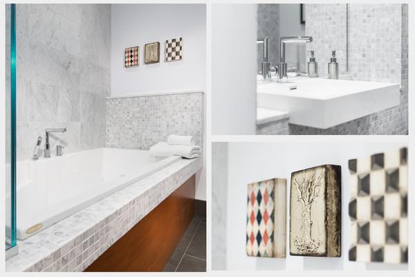 Bathroom salle de bain de bullion contemporary - Reno salle de bain ...