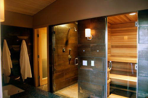 Bathroom Sauna Steam Room Contemporary