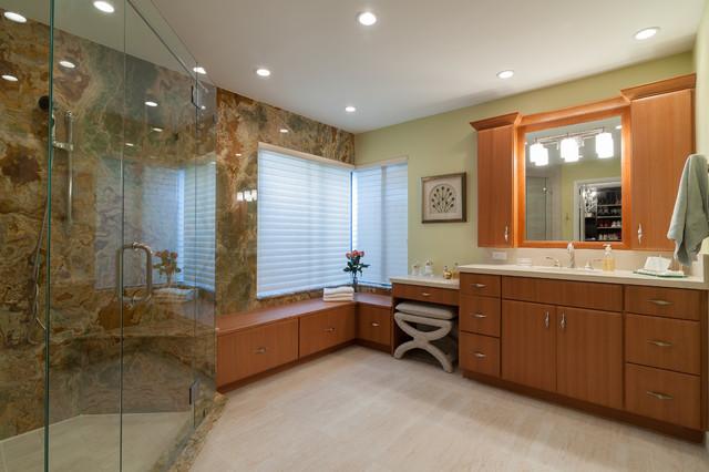 Bathroom Seating Transitional Bathroom Miami By