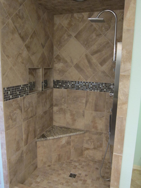 Bathroom Shower Remodel Project Contemporary Bathroom Dallas By The F