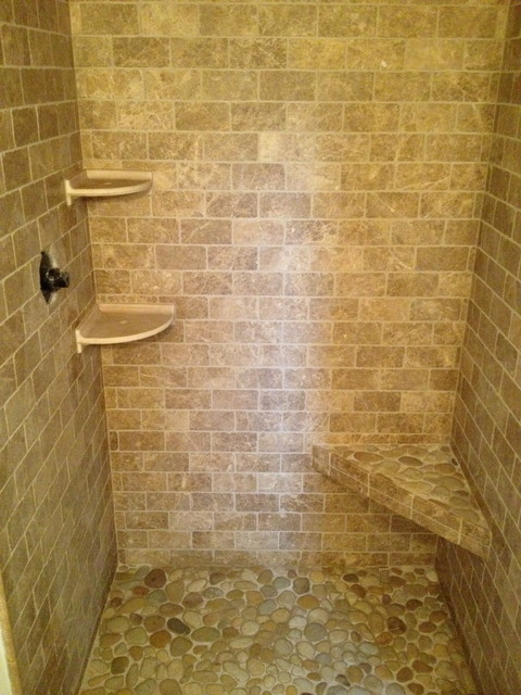 Bathroom Shower Stone Contemporary Bathroom Boston