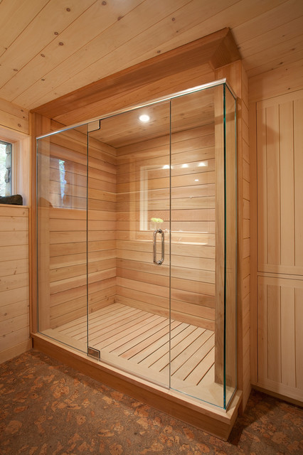 bathroom shower - rustic - bathroom - portland maine -whitten