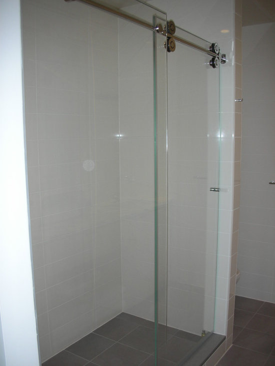 Rolling glass shower door home design ideas pictures