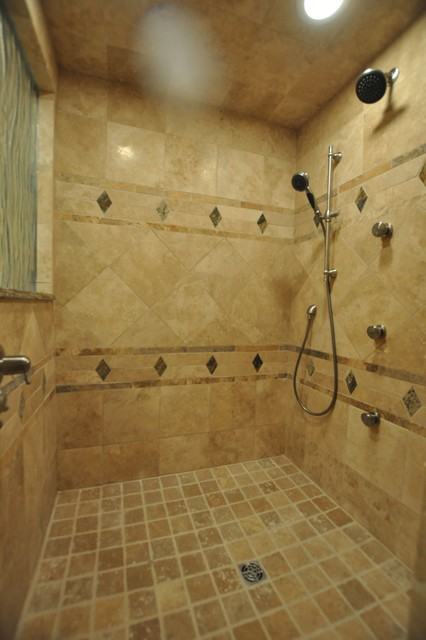 Bathroom Spa Stone Shower Travertine Floor Eclectic  : eclectic bathroom from www.houzz.com size 426 x 640 jpeg 58kB