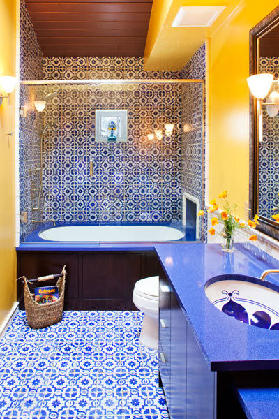 Bathroom mediterranean bathroom minneapolis by for Yellow and brown bathroom decor