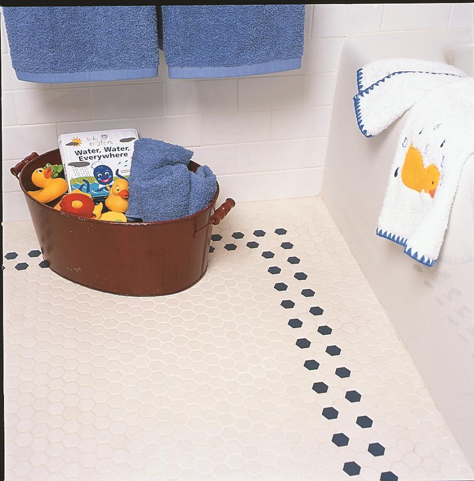 Bathroom tile floor design