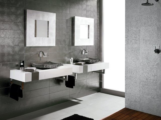 Bathroom Tiling Ideas Bathroom Tile Ideas  Contemporary  Bathroom  Sydney Amber .