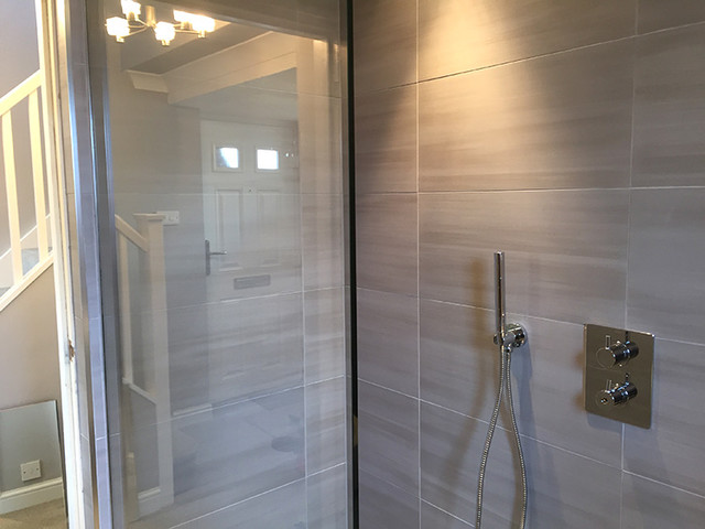 Bathroom To Wet Room Conversion In Standon Hertfordshire Contemporary Bathroom