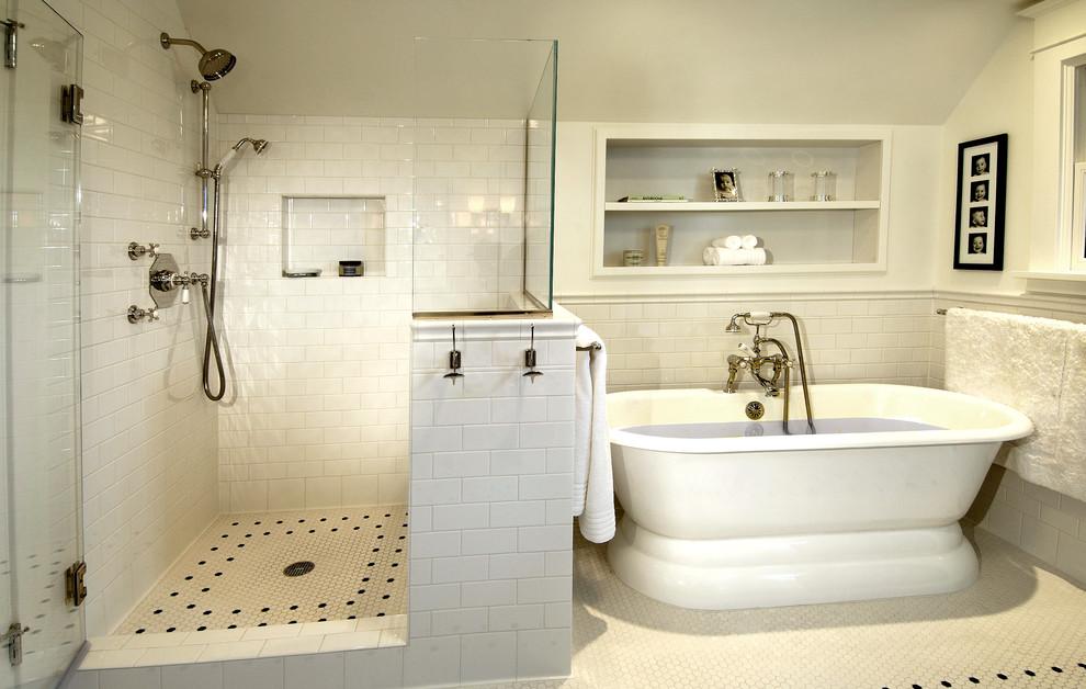 Bathroom Traditional with deck - Traditional - Bathroom ...