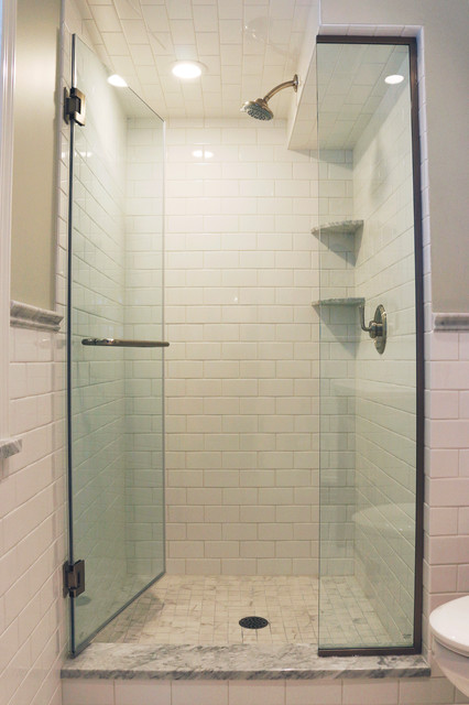 bathroom transformation in cleveland heights transitional bathroom