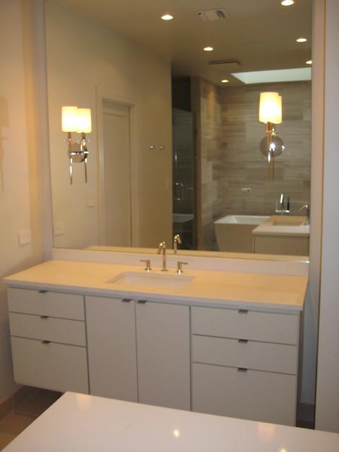 Bathroom Vanities Caesarstone Eggshell Quartz Contemporary Bathroom New Orleans By