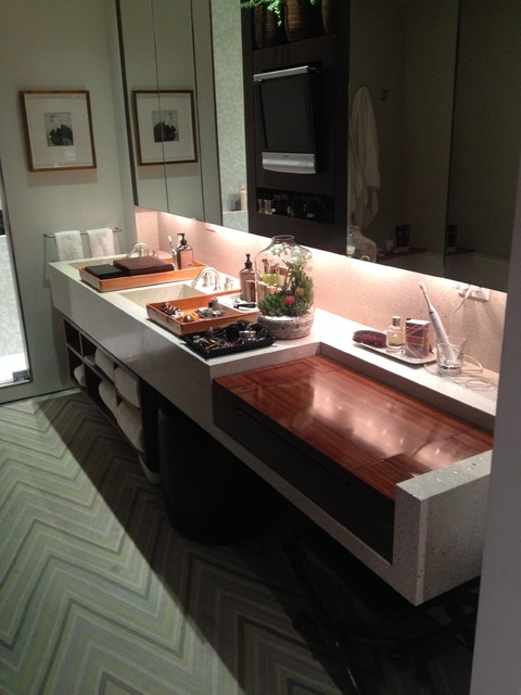bathroom vanities modern bathroom new york by goodbuilders