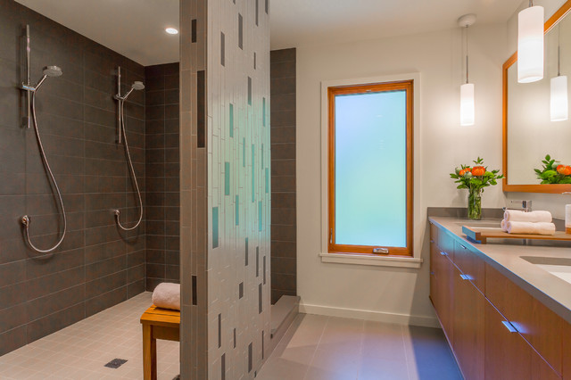Bathroom Vanity And Shower Contemporary Bathroom Seattle By Bristol Design And