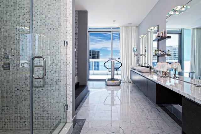 Bathroom Vanity and Shower contemporary-bathroom