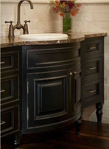 Bathroom Vanity Paint Ideas bathroom vanity ideas with black painted cabinetry - traditional