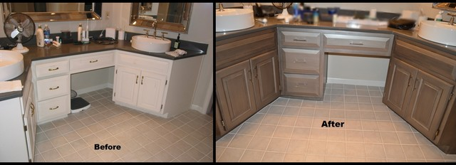 Awesome Bathroom Vanity Refinish Traditional Bathroom Amazing Design